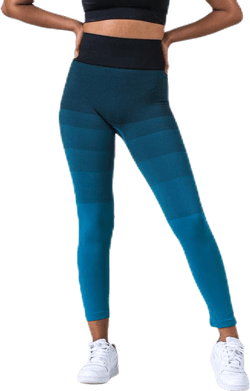 Gradient Seamless Tights Blue