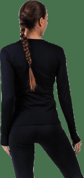 Flora Merino LS Black