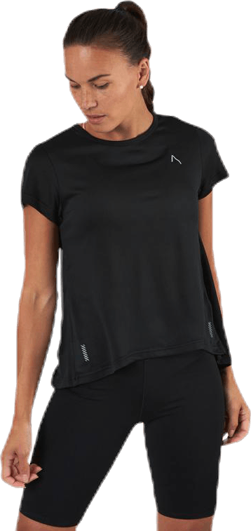 Flowing Running Tee Black