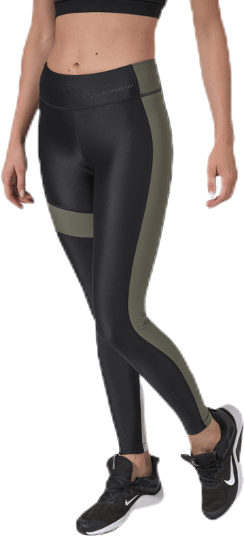 Blocked Compression Tights Green