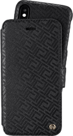Stockholm Wallet Case Magnet iPhone X/XS Black