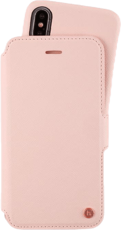 Stockholm Wallet Case Magnet iPhone X/XS Pink