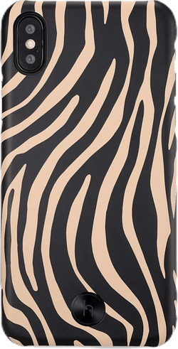 Paris Zebra iPhone X/XS Black/Beige