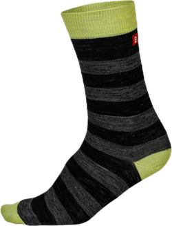 Merino Liner Striped Green/Black/Grey