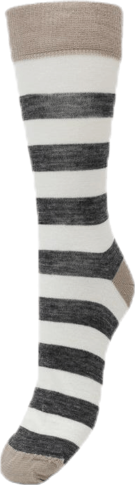 Merino Liner Striped White/Grey/Beige