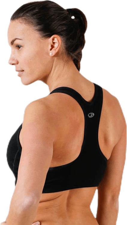 Pad Sports Bra C/D Black