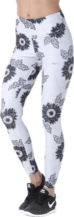 Floral Ath Tights Patterned/Grey