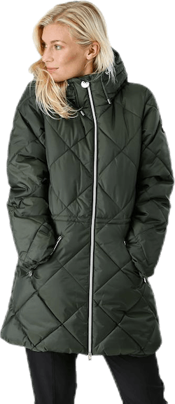 Active Quilt Jacket Green