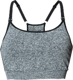 Soft Sports Bra Black/Grey
