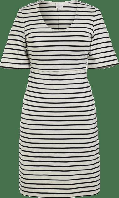 Simone SS Dress Blue/White