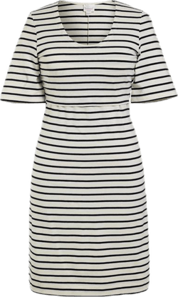 Simone SS Dress Blue/White