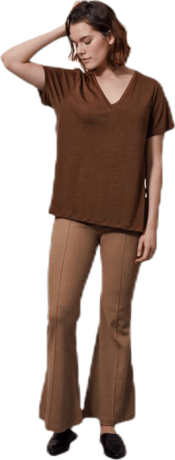 The-Shirt V-neck Brown