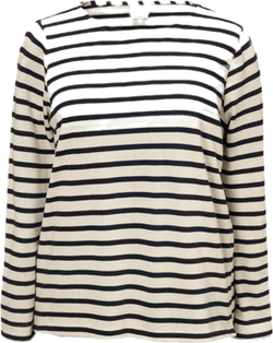 Breton L/S top Blue/White