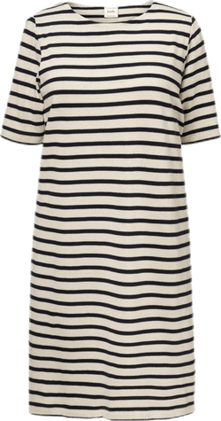 Breton Dress Blue/White