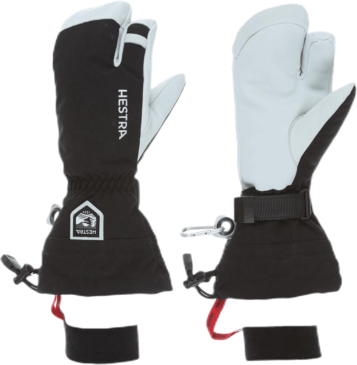 Army Leather Heli Ski 3 Finger Black