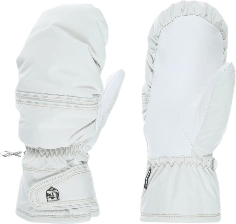 Primaloft Leather Mitt White