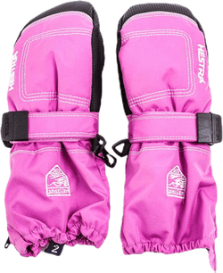 Baby Zip Long - Mitten 0-5 Years Pink