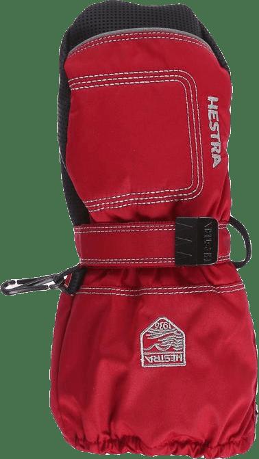 Baby Zip Long - Mitten 0-5 Years Red