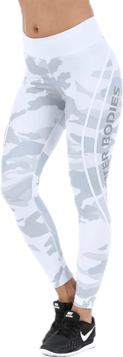 Camo High Tights White