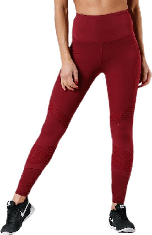 Waverly Mesh Tights Red