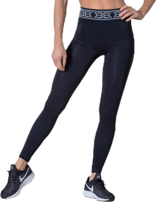 Rib Seamless Legging Black
