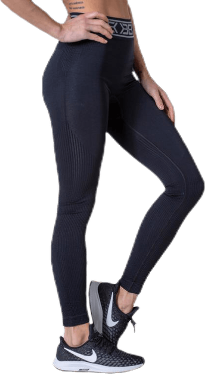 Rib Seamless Legging Black