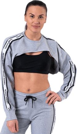 Chrystie Crop LS Grey