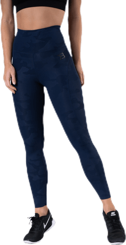 High Waist Leggings Blue/Patterned