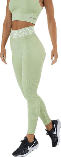 Rib Seamless Legging Green