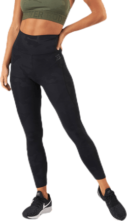 High Waist Leggings Patterned/Black