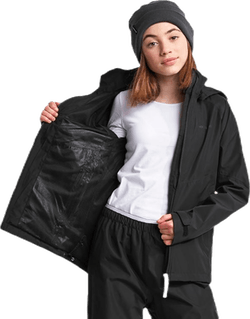 Tera Girls Rain Jacket Black