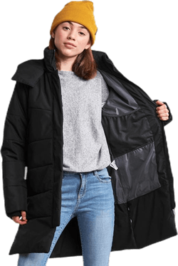 Sherin Girl's Puff Parka Black