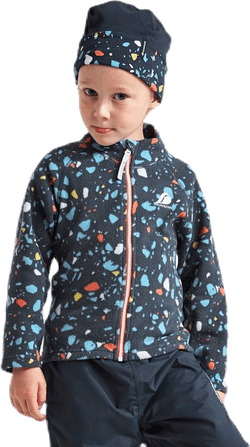 Monte Printed Kids Jacket Blue