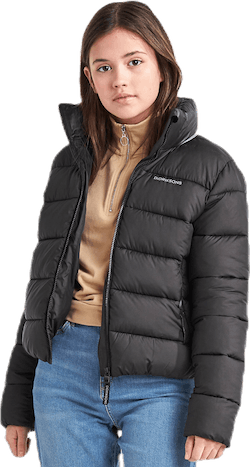 Rose Girls Puff Jacket Black