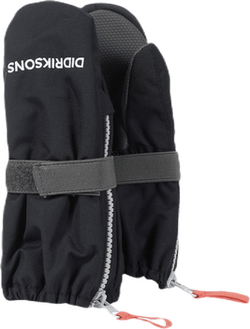 Biggles Zip Mittens Black
