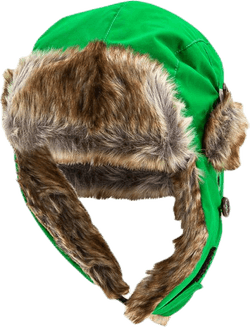 Squirrel Winter Cap Green