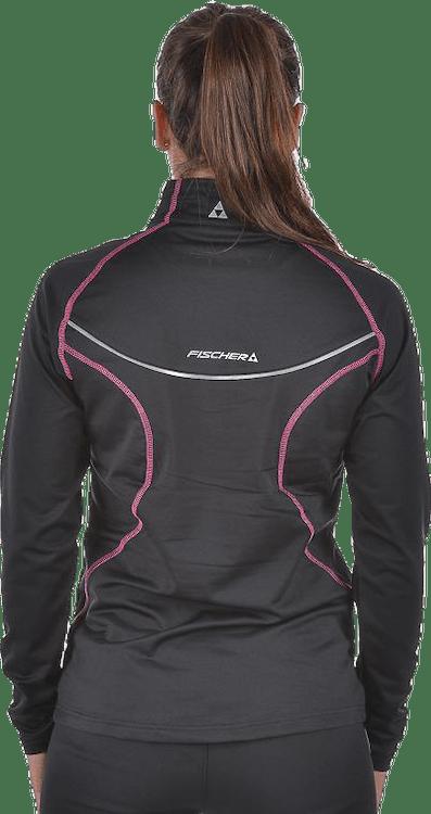 Bruksvallarna Halfzip W Pink/Black