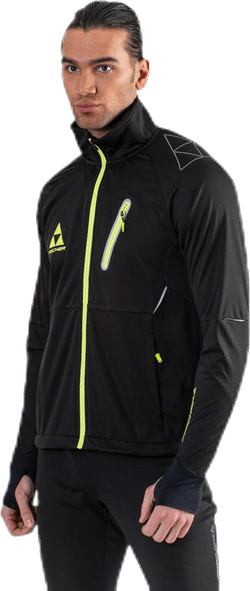 Åsarna 2 Softshell Jacket Black/Yellow