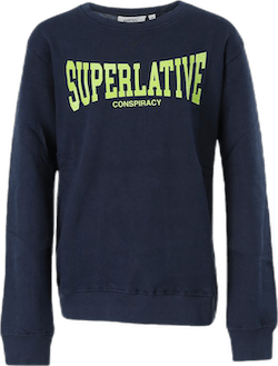 Superlative Crewneck Jr Blue