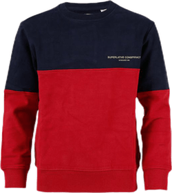 Colour Block Sweatshirt Red