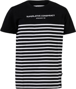 Superlative Conspiracy Stripe Youth White/Black