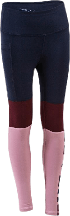 Color Block Jr Tights Blue/Pink