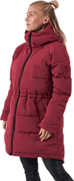 Hourglass Puffer Jacket Red