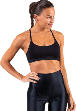 Seamless Bra top Black