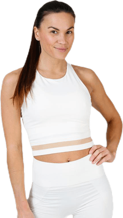 Seamless Crop Tank White