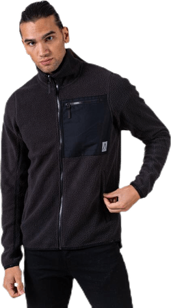 Retro Pile Jacket Black