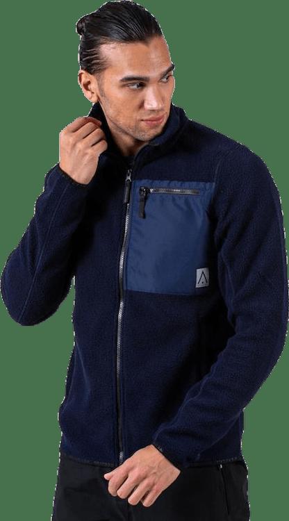 Retro Pile Jacket Blue