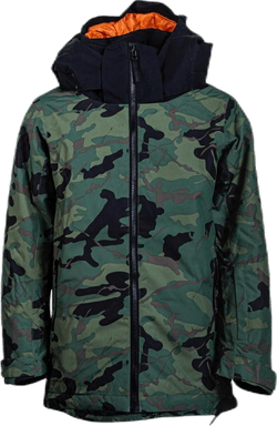 Slice Jacket Youth Patterned/Green