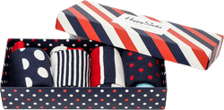 Stripe 4-pack Gift Box Blue/Red