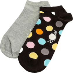 2-Pack Big Dot Low Socks Black